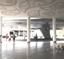 The giant canopy for W Hotel