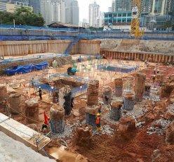 Branz Mega Kuningan Pemotongan Beton Bored Pile Mat Pondasi