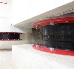 Base Isolator used in Gudang Garam Tower