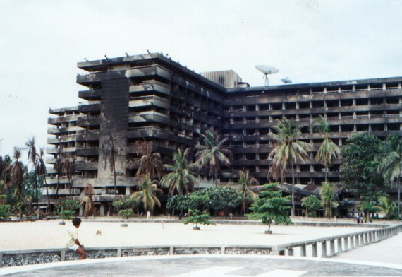 Bali Beach Hotel: after a fire damage