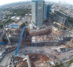 Pondok Indah Mall 3 and Office Towers Construction Top View